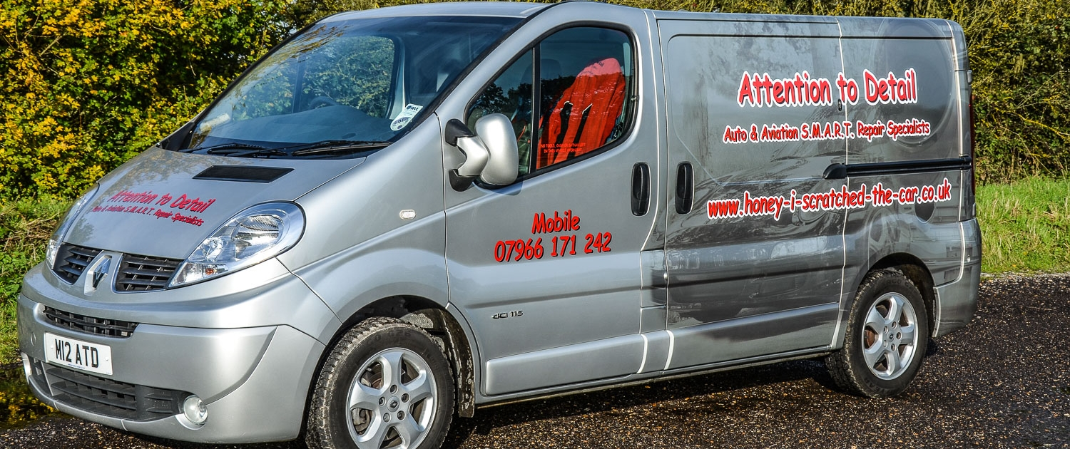 Attention to Detail mobile smart repair specialists bumper repairs image by Ian Skelton Photography