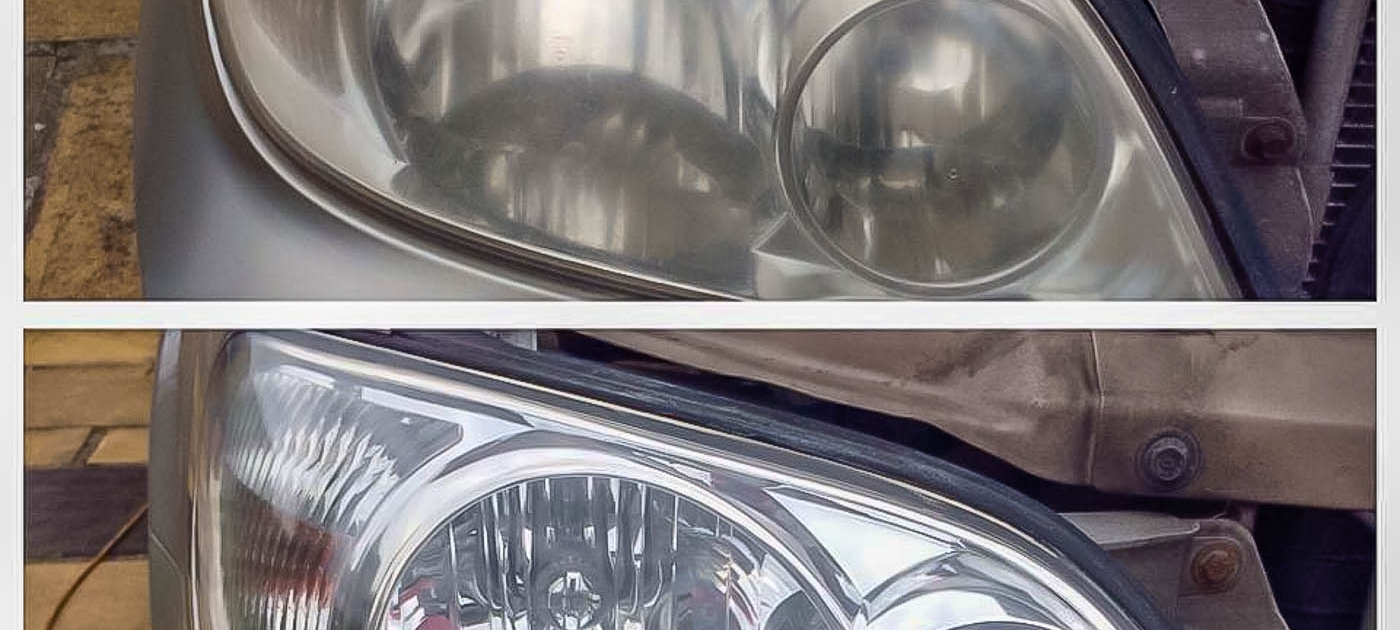 Faded Headlight lens repair before & after by Attention to Detail mobile smart repairs